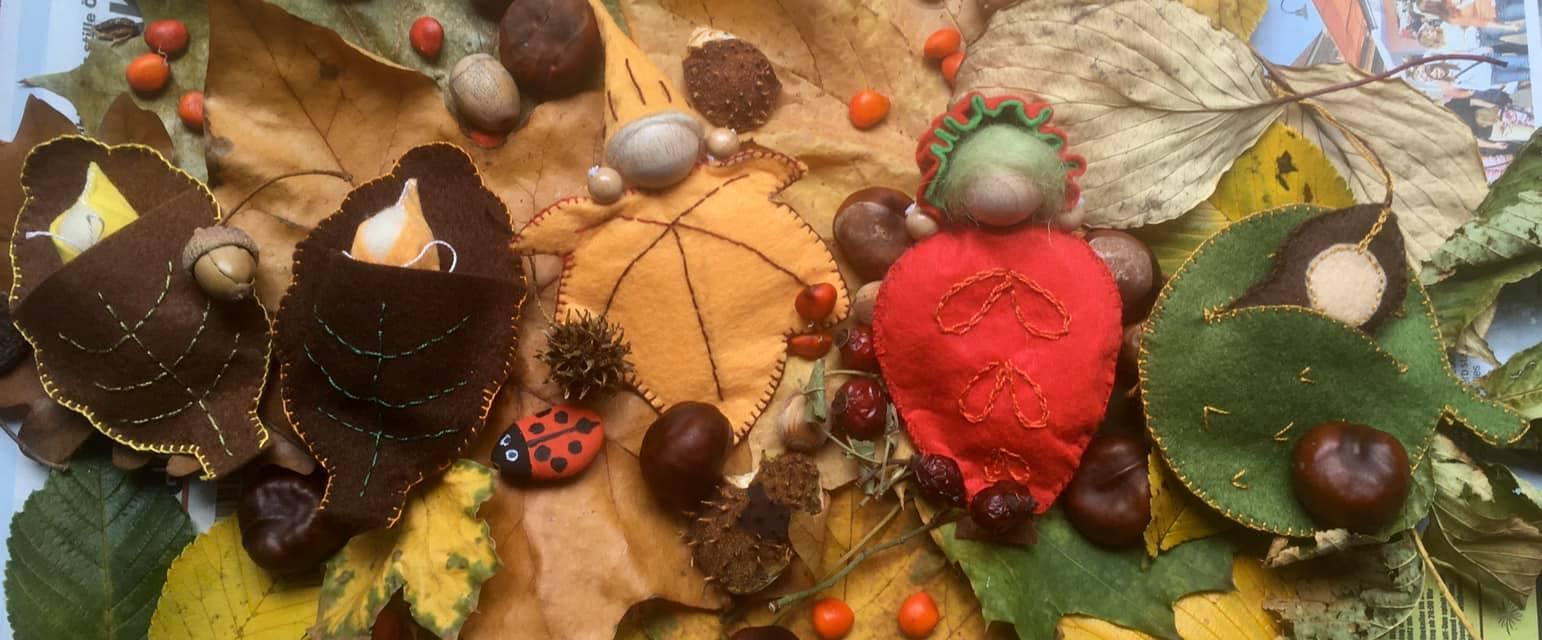 WaldorfARt levélmanók, waldorf versek, őszi versek